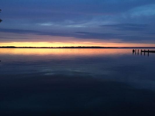 Sonnenuntergänge, jeden Abend aufs Neue, einer schöner als der andere © Naturcamping Zwei Seen am Plauer See/MV . https://www.zweiseen.de