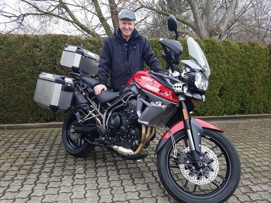 01.02.2018: Horst Jünke aus Blieskastel mit seiner neuen TRIUMPH Tiger 800 XRT