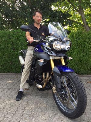 13.08.2015: Jürgen Wurzbacher aus Grenzach-Wyhlen mit seiner neuen TRIUMPH Tiger 800 ABS