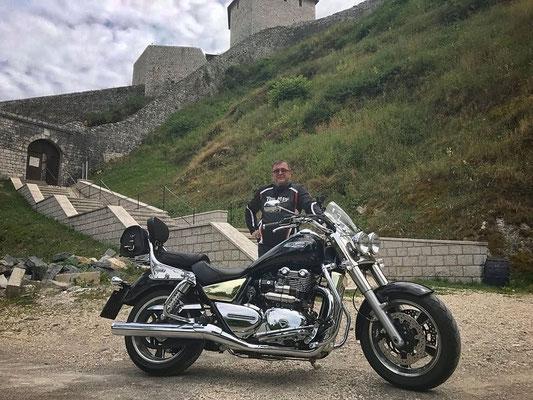 Juli 2017: Maik Triebsch aus Steinen unterwegs mit seiner TRIUMPH Thunderbird Commander (Copyright: M.Triebsch)