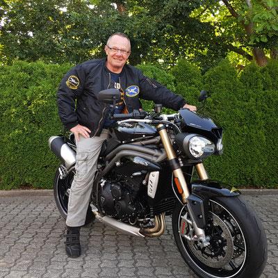 20.06.2017: Martin Schweikert aus Rheinfelden mit seiner neuen TRIUMPH Speed Triple S 1050 ABS