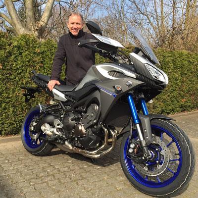 18.03.2015: Numa Frossard aus Himmelried (CH) mit seiner neuen YAMAHA MT-09 Tracer