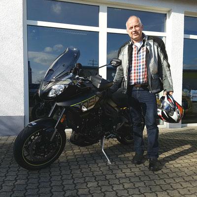 20.03.17: Ronald Kroh aus Grenzach-Wyhlen mit seiner neuen TRIUMPH Tiger Sport 1050