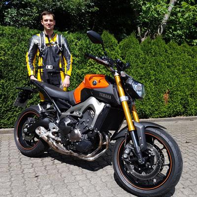 16.06.2017: Andy Jurtzig aus Münstertal mit seiner YAMAHA MT-09