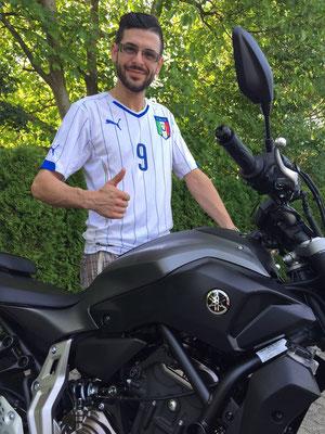 27.08.2015: Große Freude in Gutach über die neue YAMAHA MT-07 ABS