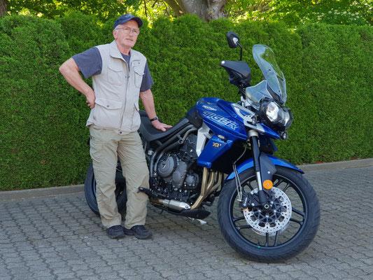 11.05.2018: Marius Mokry aus Lörrach mit seiner neuen TRIUMPH Tiger 800 XRx