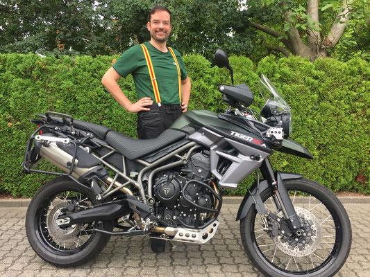 12.08.2016: Daniel Köbele aus Steinach mit seiner neuen TRIUMPH Tiger 800 XCA