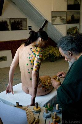 Bodypainting : Laéticia et Jean Bitoun