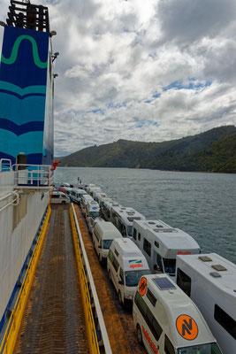 Auf der Fähre Interislander von Picton nach Wellington