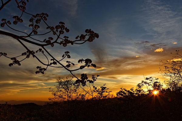 Sonnenuntergang in Rincón de la Vieja
