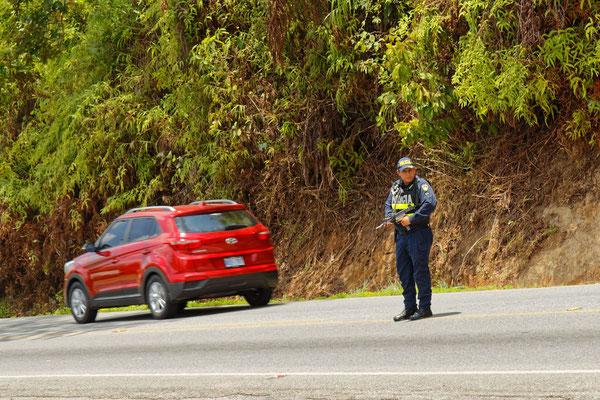Straßenkontrolle an der Panamericana