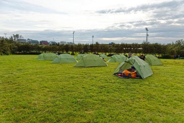 erster Zeltplatz in Reykjavik