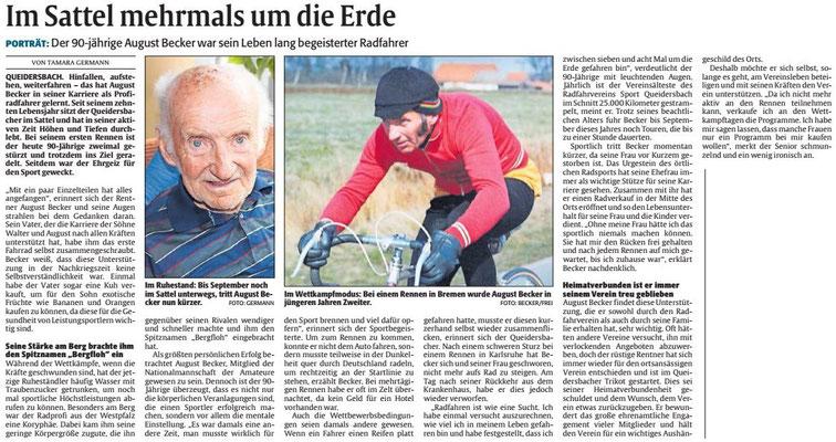 August Becker - Interview in der Rehinpfalz vom 05.12.2019