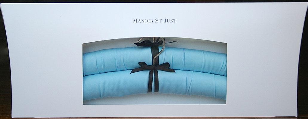 Gift box Satin bleu poudré - Manoir St. Just
