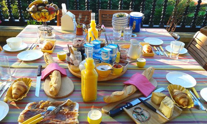 Petit-déjeuner traditionnel basque