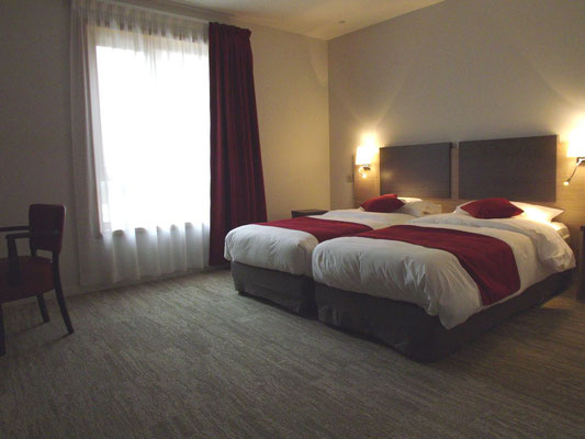 Chambre de l'hotel du budeuil