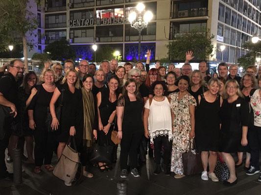 Nach dem Konzert in San Sebastián im Herzen Madrids