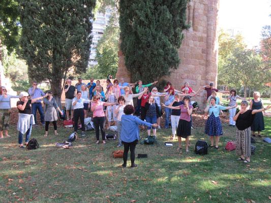 Probe im Retiro Park im Herzen Madrids