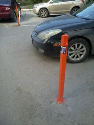 парковочный столбик на асфальт