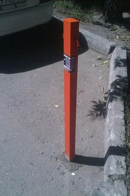 бетонируемый парковочный столбик
