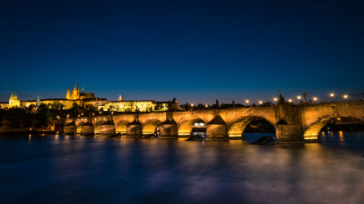 Late blue hour at Charles Bridge