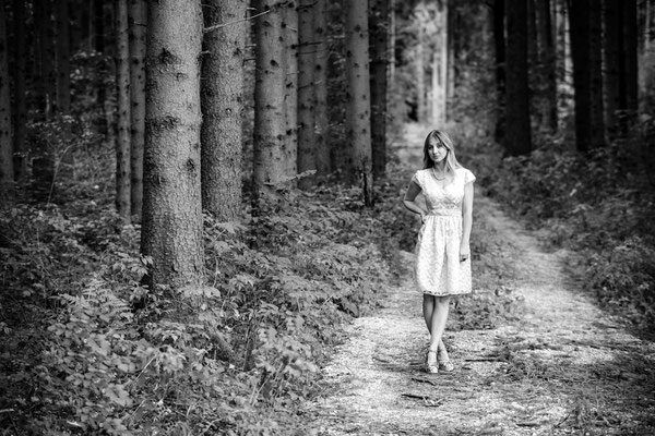 Forest memories in black and white
