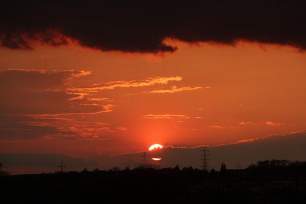 Genialer Sonnenuntergang, 13.4.2020