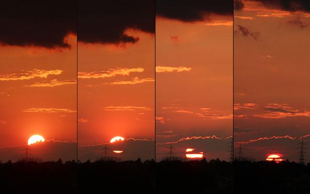 Sonnenuntergang-Verlauf, 13.4.2020