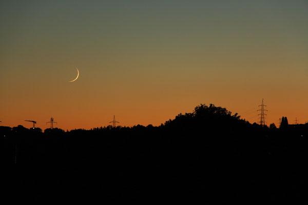 Mondsichel nach Neumond, 20.8.2020