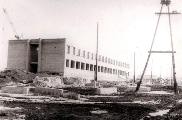 Строительство новой школы. 1981 год