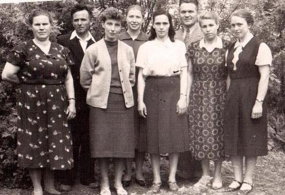 1961 год. Коллектив учителей