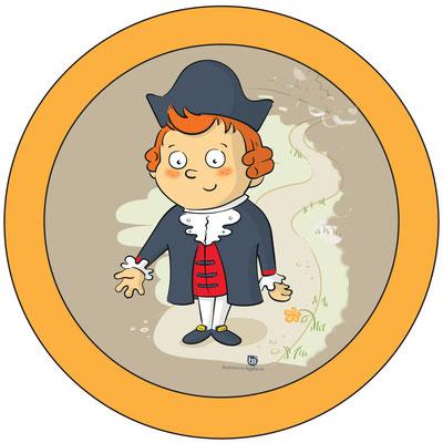 Huch, wer bin ich denn? Richtig, ich bin der kleine Adam von Capellan. Wunderschönes Maskottchen des Lüderbacher Familienpfad Point India.