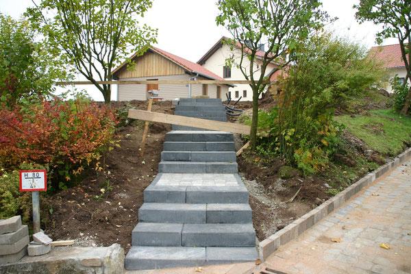 Neuer Treppenaufgang zum DGH