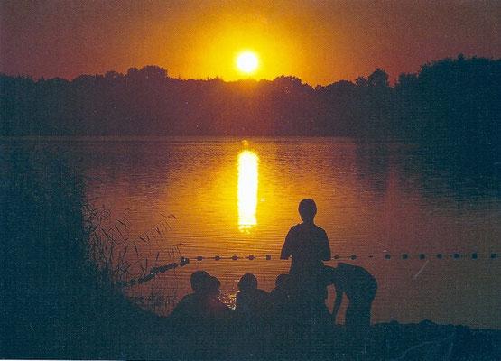 Sonnenuntergang am Brahmsee