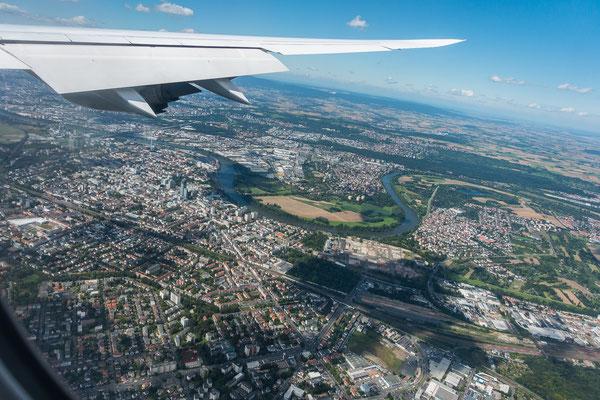 Anflug auf Frankfurt