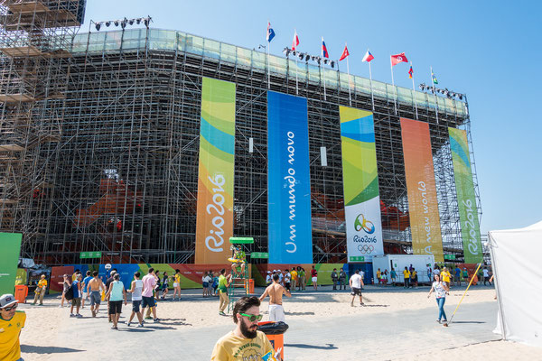 Beach Volleyball Stadion an der Copagabana