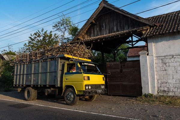 Rohrzucker beladene Lastwagen
