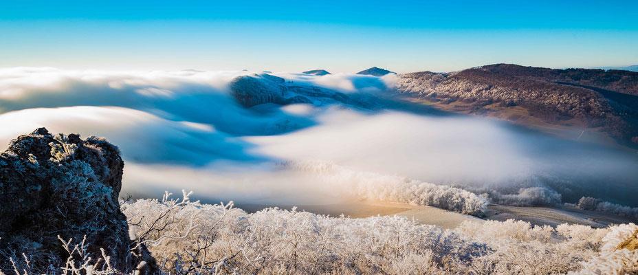 Nebelwelle auf der Gislifluh