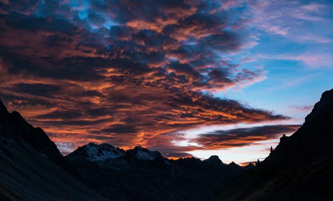 Dramatischer Sonnenuntergang am Albula!