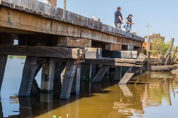 Sieht recht stabil aus im Gegensatz zu einigen Brücken die wir überquerten!