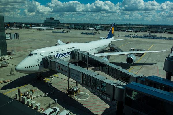 Rückflug mit dem neuesten Jumbo 747-8