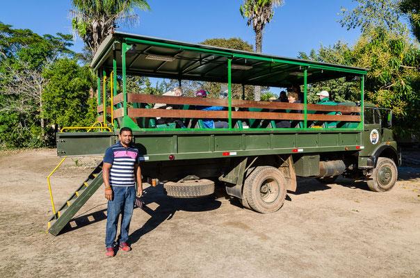 Unser Fahrzeug für die Reise auf der Transplantaneria