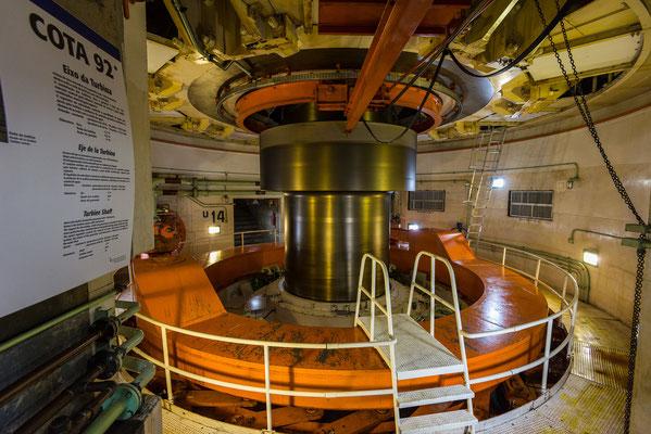 4.6m misst der Wellendurchmesser zwischen Turbine und Generator