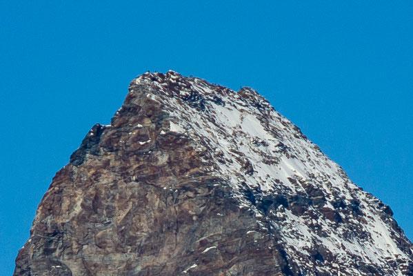 Bergsteiger auf dem Matterhorn