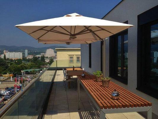 Solero Sonnenschirme / Sonnenschirme & Co - Massanfertigung , Gartenschirme , Wandschirme und Gastroschirme