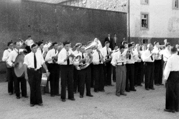 Fahnenweihe der Feuerwehr 1956