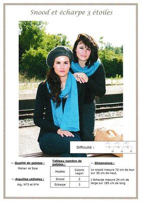 Snood et écharpe (3 étoiles) - Mohair & Soie
