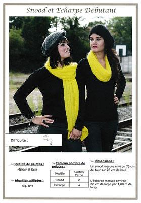 Snood et écharpe (débutant) - Mohair & Soie