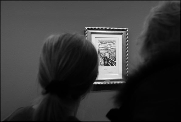 "Vienna: Museo Albertina, litografia ""The scream"" di Edvard Munch - © Massimo Vespignani"