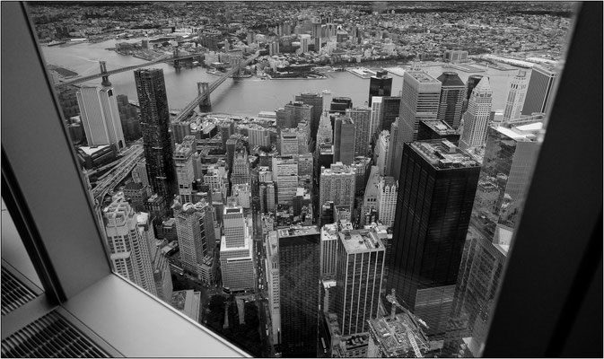 New York City: veduta dal 102° piano del One World Trade Center (Freedom Tower) - © Massimo Vespignani